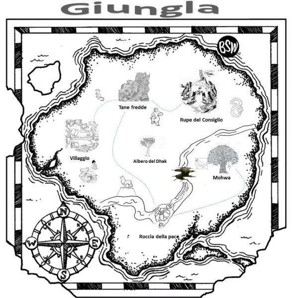 mappa della giungla - mappa della giungla, al momento della caccia della tigre tigre (5×5)