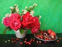buquê de flores - buquê de rosas em um vaso