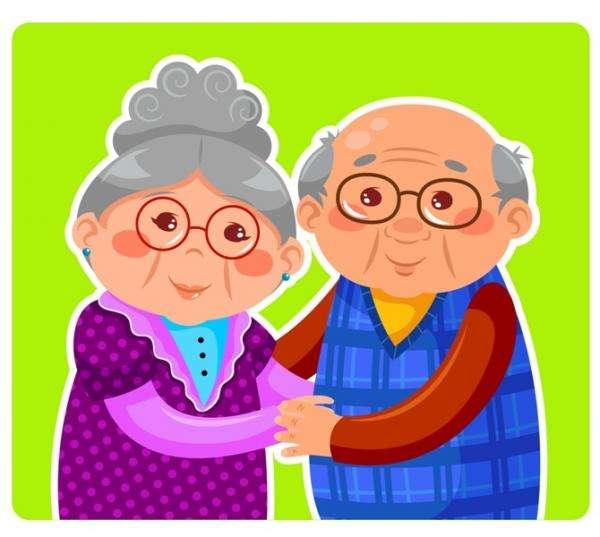 παππούδες και γιαγιάδες - Παζλ με τη γιαγιά και τον παππού (3×3)