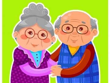 ABUELOS - Puzzle z babcią i dziadkiem