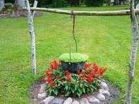 lareira - lareira de flores no jardim