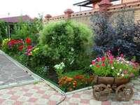 căruță de flori - mare reducere de flori și căruță