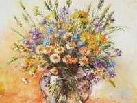 spring bouquet - kolorowy obraz z kwiatów