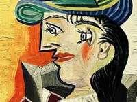 donna con cappello blu_puzzle