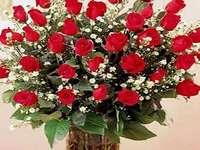 verjaardag boeket - rode rozen voor verjaardagen