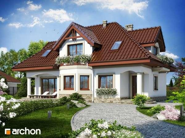 piękny dom - dom,drzewa,trawnik,kwiaty (10×10)