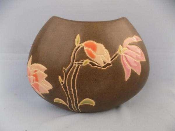 jarro, frasco ou abajur - tulipas pintadas em um vaso (10×5)