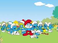 The Smurfs puzzle - Puzzles for the school project