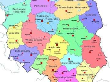 kaart van Polen - Probeer een kaart van Polen te maken.