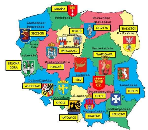 mapa Polski puzzle
