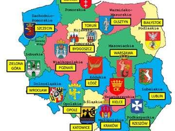 kaart van Polen - Schik een kaart van de Poolse provincies