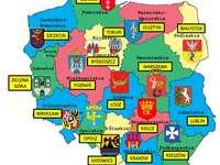 mapa de polonia - Ułóż mapę województw Polski