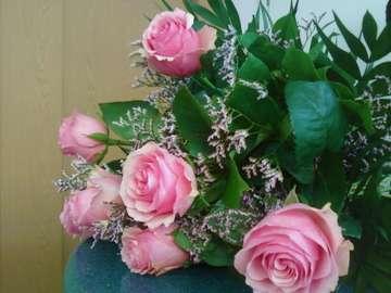 rose bouquet - Jeszcze jedna wersja bukietu z różowych róż