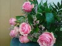 Rosenstrauss - Jeszcze jedna wersja bukietu z różowych róż