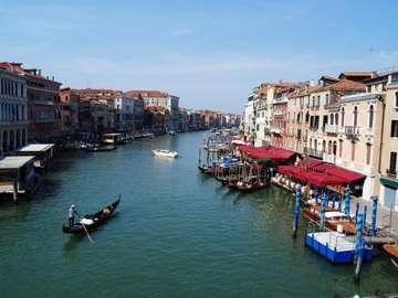 Grand Canal Velence - Kilátás a csatornára a Rialto-hídtól