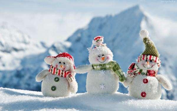 tres muñecos de nieve - Trzy Bałwanki Zimowe (6×6)