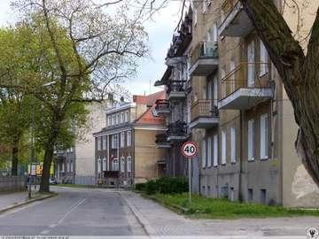 via Gubińska sul fiume Nysa - Ulica Piastowska w Gubinie