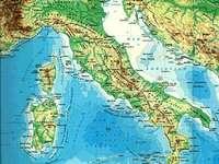 Carta fisica italia - Carta fisica dell'Italia