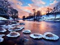paisagem de inverno - r4zeka, pedras, árvores, gelo