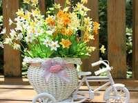 fiets en bloemen