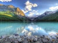 планини, езеро