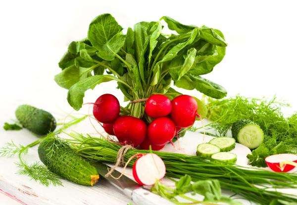korai zöldségek - Friss tavaszi zöldségek (2×2)