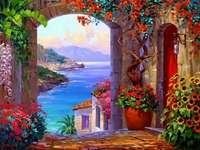 vedere la mare - vedere la mare, vază, flori, culori
