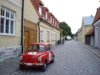 Toppen Gotland - Straat in de stad van Toppen gotland zweden