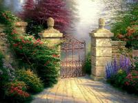 a gate to an unknown garden - a gate to an unknown garden