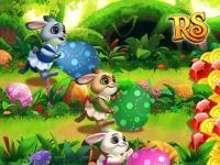 Colorful bunnies - Three hares and Easter eggs
