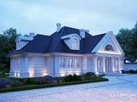una gran casa