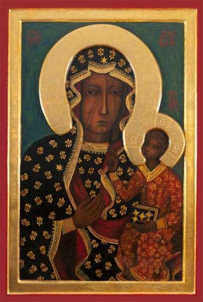 MB Częstochowska - słynny obraz Matki Bożej (5×5)
