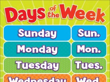 Days of the week - Colorful picture of the week