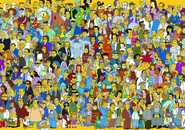 The Simpsons - American animated comedy series for the older audience, invented by Matt Groening.