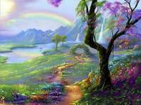 Малко кич пейзаж - Кич пейзаж с дърво