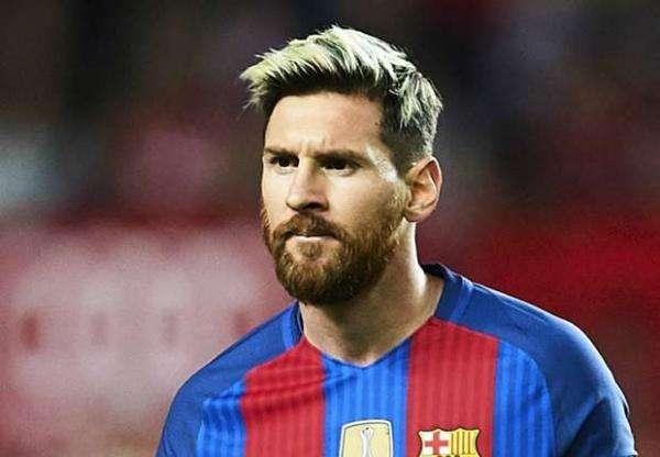 Joueur de football Lionel Mess - Un footballeur argentin qui joue comme milieu de terrain ou attaquant au FC Barcelone et à l'�
