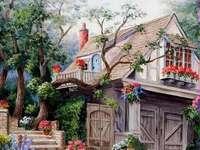 Dům a zahrada malované