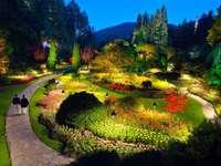 Πάρκο Butchart τη νύχτα
