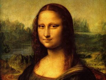 Mona Lisa Leonardo da Vinci - Najsłynniejszy obraz na świecie. Powstał na początku XVI wieku (ok. 1503–1506), a obecnie znaj