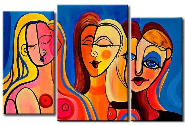 Slavné obrazy - Picasso ženy, krásný obraz, pokud se vám líbí. Obrázková skládačka (10×10)
