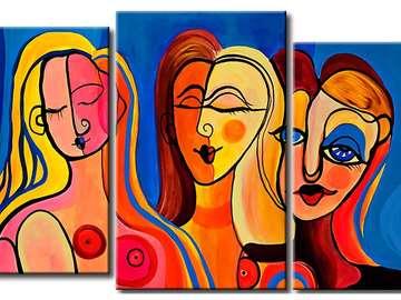 Berühmte Gemälde - Picasso-Frauen, schöne Malerei, wenn es dir gefällt. Bilderrätsel.