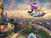 Jasmine a Aladdin na koberci