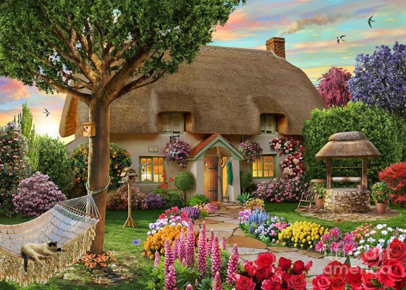 Domek,ogród,hamak,kot - Domek,ogród, hamak,kot (10×10)