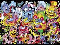 Psychedelic Doodle - Psychedelic Doodle is the work of Jon Burgerman, which is an intriguing tangle of scribbles in which