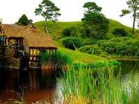 Młynzieleń,trawy,rzeka - Mill, grönt, gräs, flod