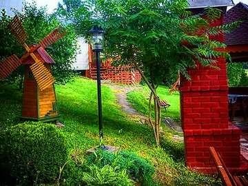 Un coin isolé - Un coin vert isolé pour les campeurs