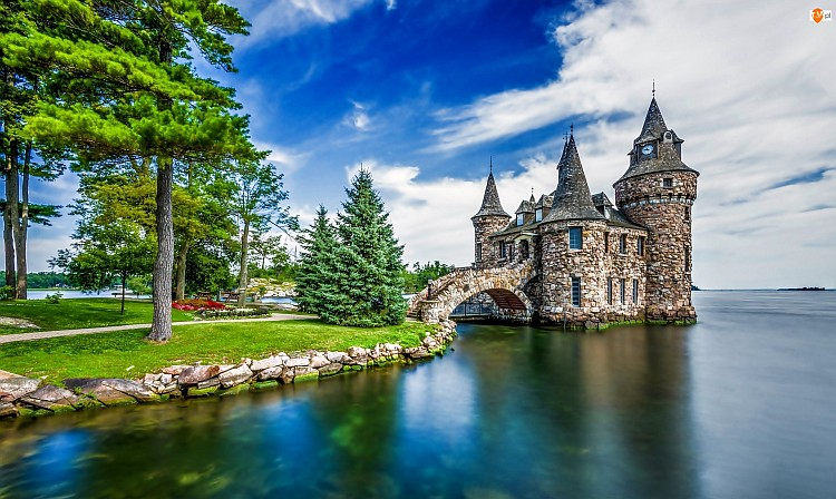 Castle over the water in the p