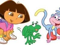 Dora möter världen - Dora - är en liten resenär som med stort hjärta och nyfikenhet lär sig om världen runt sig. I v