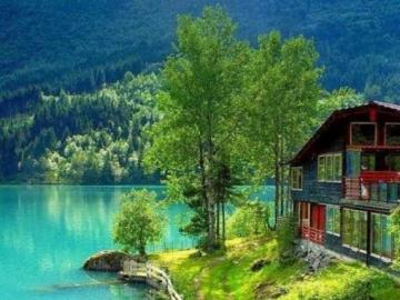 Casa escandinava junto al mar