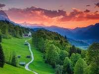 Paesaggio dalla Baviera